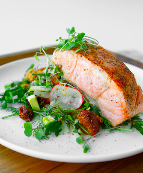 Roasted Butter Herb Salmon