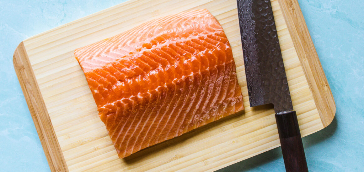 Salmon Being Prepped