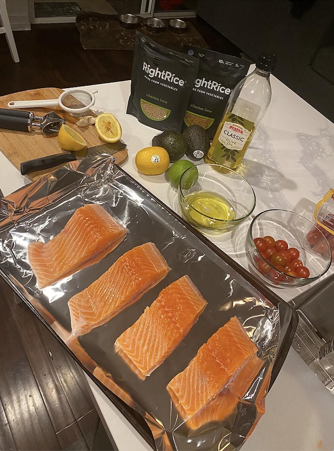 Salmon Prepped